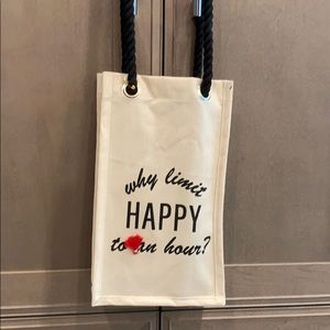 Coco+Pop Two bottle canvas tote bag.